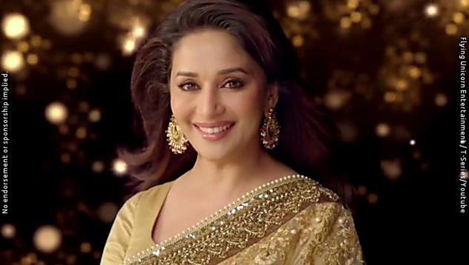 Madhuri Dixit Brown Saree Look Bombay Talkies Style Inspiration