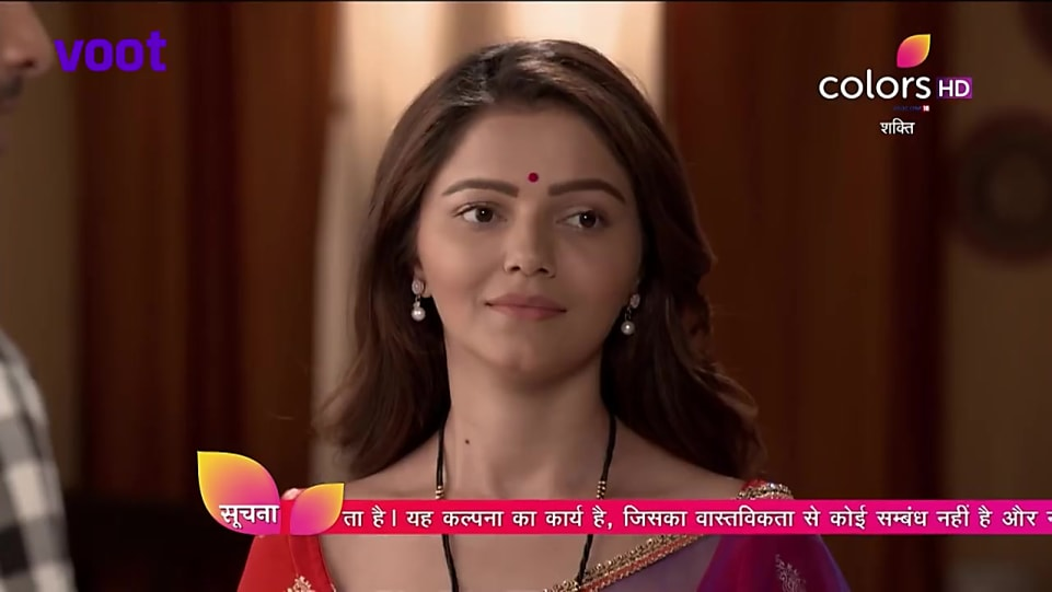Rubina Dilaik Purple Saree look, Episode 512 style, Shakti - Ek