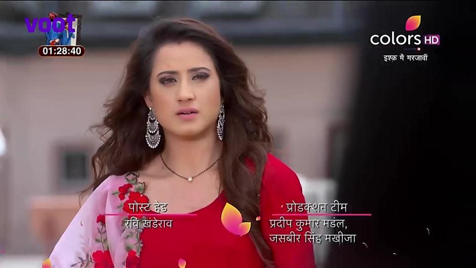 Alisha Panwar Red Anarkali look Episode 178 style inspiration | Ishq