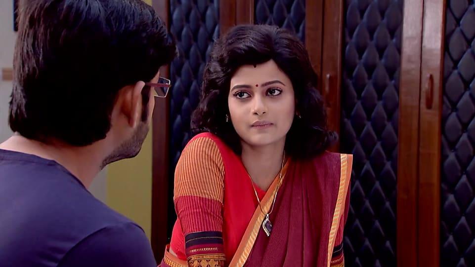 Ushasi Ray Maroon Saree look Episode 213 style inspiration