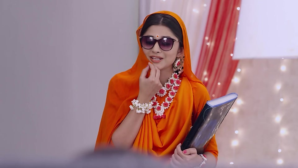 Kanika Mann Orange Saree look Episode 5 style inspiration