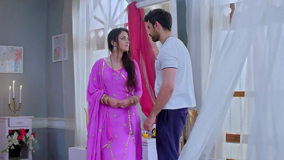 Aditi Sharma , and Purple Churidar look, Episode 81 style