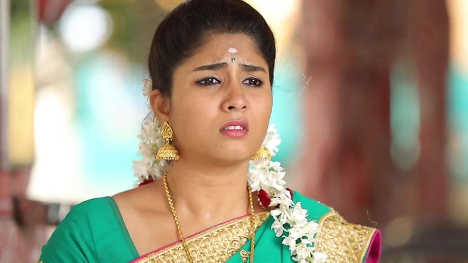 Sathya Sai Teal Blouse look, Episode 367 style, Azhagiya