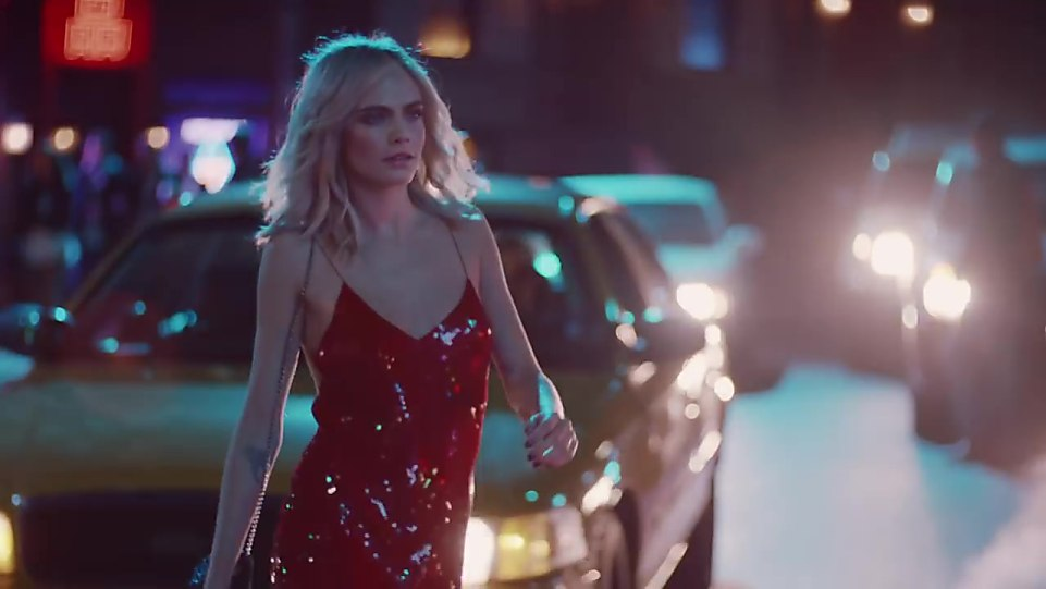 9700ed618070 Cara Delevingne Red Dress look Shimmer In The Dark style inspiration ...