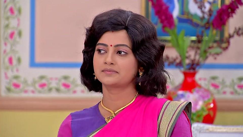 Ushasi Roy Pink Saree look Episode 382 style inspiration