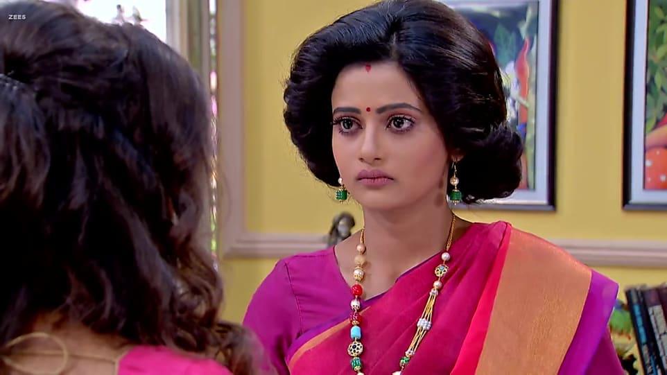 Ushasi Roy Pink Saree look Episode 476 style inspiration