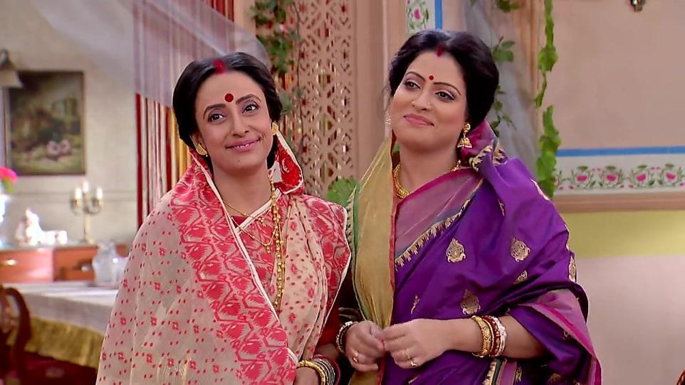Mallika Majumdar Beige Saree look Episode 473 style