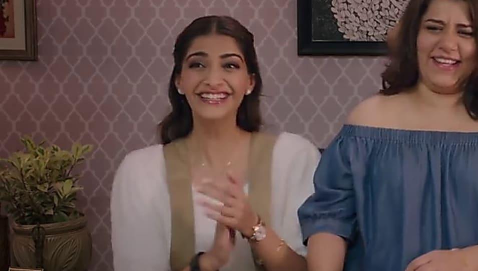 Watch Veere Di Wedding.Sonam Kapoor Gold Watch Matching With Look From Laaj Sharam