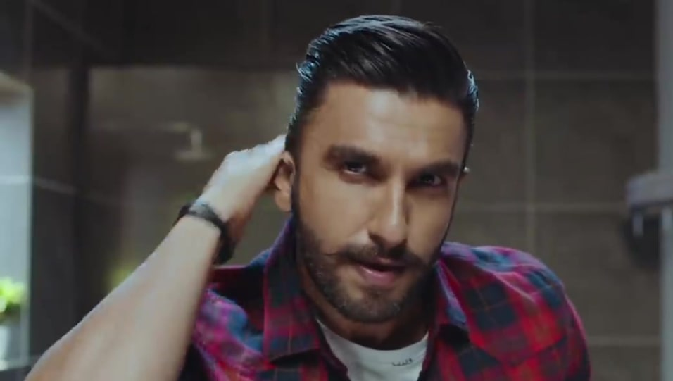 Celebrity Hairstyle Of Ranveer Singh From Commercial Set Wet Styling 2019 Charmboard