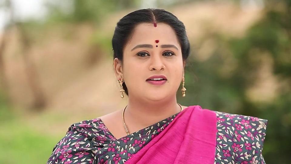 Ashwini Radhakrishna Pink Saree look, Episode 381 style, Oru Orla