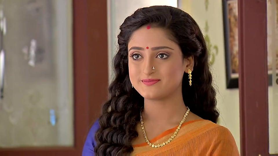 Debadrita Basu Orange Saree look Episode 541 style
