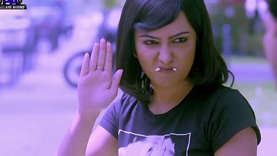 Radhika Pandit Black T-shirt and Green Shorts look, Naina Nain style