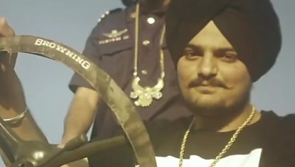 Sidhu Moose Wala Silver Kada matching with look from So High, Single
