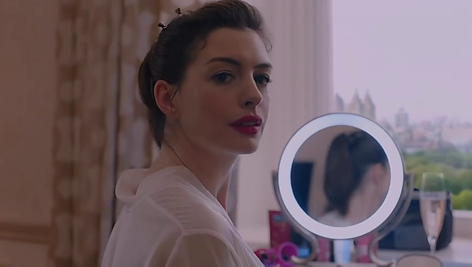 e56fb731ae Anne Hathaway White Nightdress look, Official Trailer style, Oceans ...