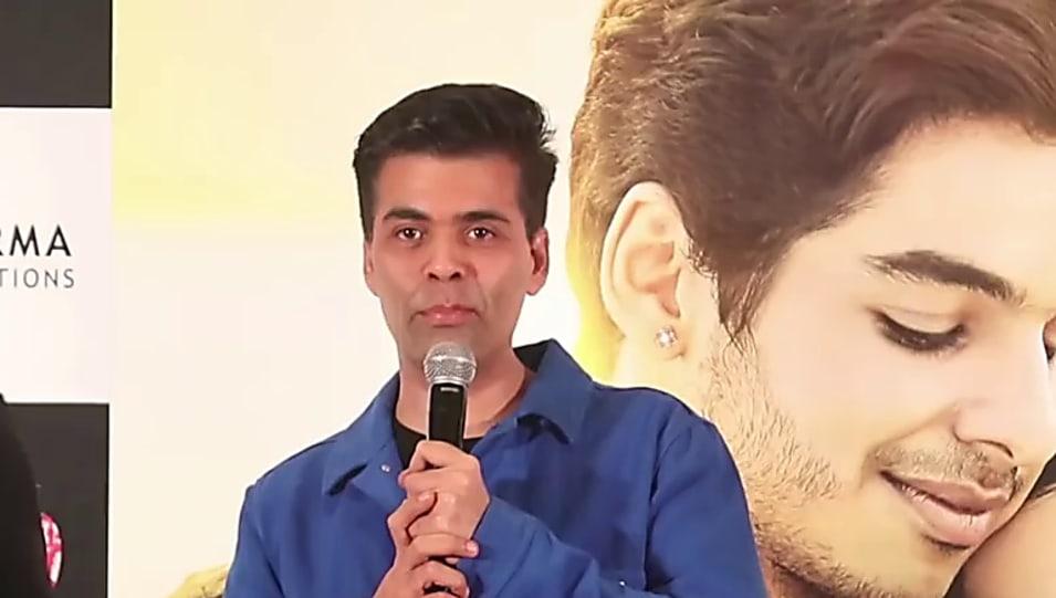 Karan Johar Black T-shirt and Black Jeans look, Jhanvi