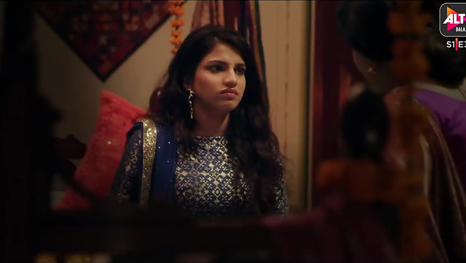 Asheema Vardaan Blue Lehenga look Episode 3 style
