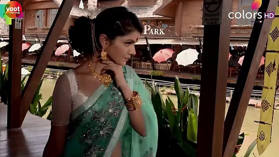 Rubina Dilaik Green Saree look, Episode 312 style, Shakti - Ek