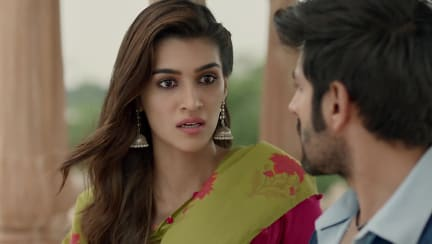 Kriti Sanon Pink Kurta And Pink Palazzo Pants Look Official Trailer