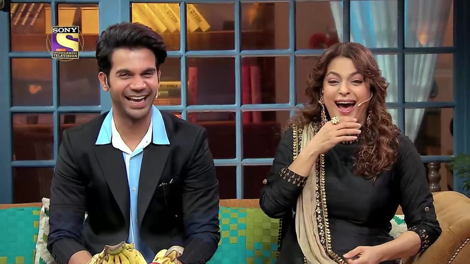 Juhi Chawla Silver Ring matching with look from Anil Kapoor Ages