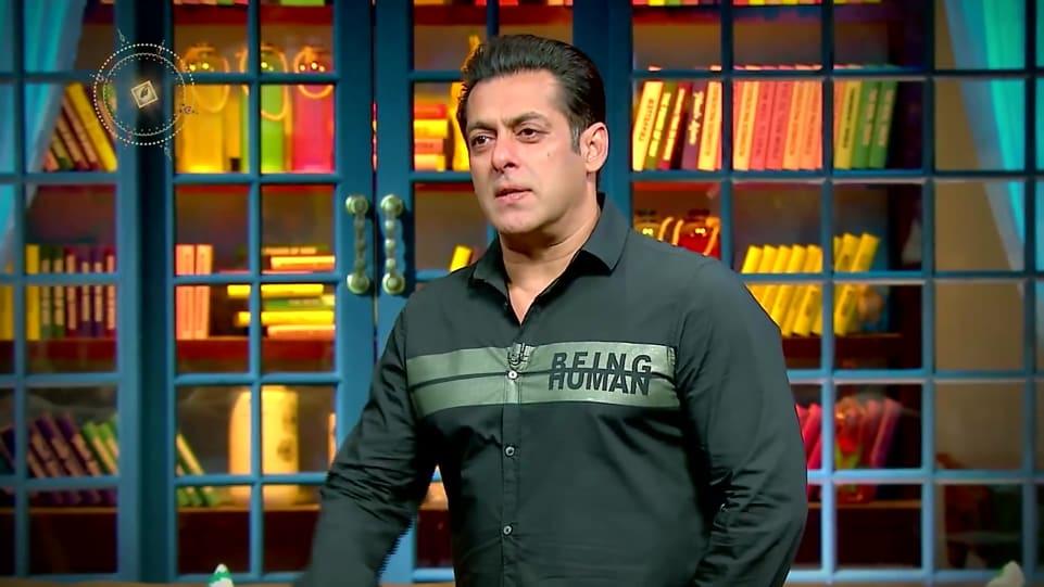 Salman Khan Green Shirt and Black Jeans look, The Kapil