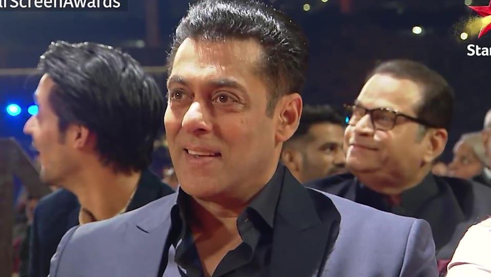 Salman Khan Grey Shirt look Star Screen Awards 2018 Jacqueline