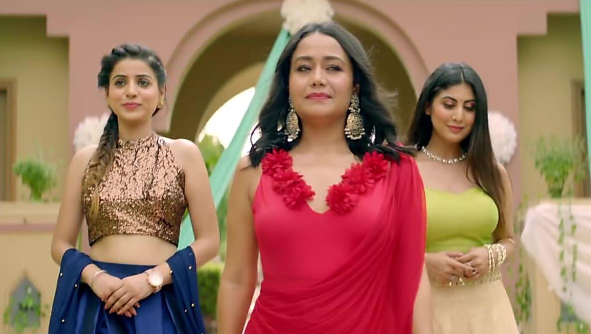 Neha Kakkar Celebrity Style In Wah Wai Wahh Single 2019 From Wah Wai Wahh Charmboard