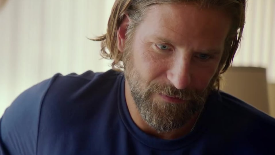 Celebrity Hairstyle Of Bradley Cooper From I Will Never Love Again A Star Is Born 2018 Charmboard