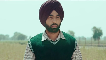 Ammy Virk Yellow Turbans matching with look from Official Trailer
