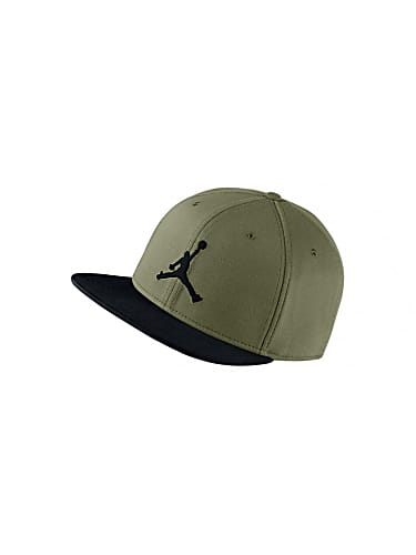 promo code 3539a 58e85 nike air jordan jumpman snapback hat olive canvas black
