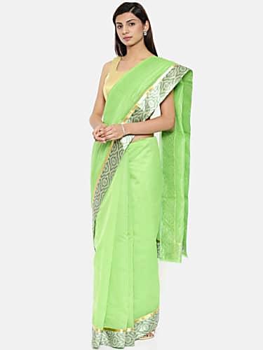 Jannat Zubair Rahmani Green Saree look, Episode 264 style