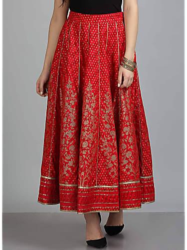 65cfec2ab5 Amulya Omkar Red Skirts look, Episode 275 style, Kamali   Charmboard