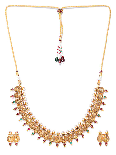7e63b80f41d92 Chaitra Reddy Gold Jewellery Set matching with look from Episode 645 ...
