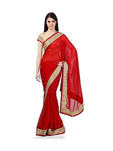 5fdc20d9475337 Vibha Anand Red Saree look, Episode 322 style, Begusarai | Charmboard