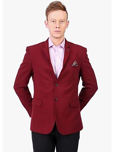 cozy fresh 2b87e c9222 callino london maroon solid blazer