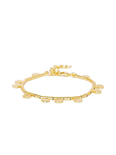Chaitra Reddy Gold Bracelet matching with look from Episode 673