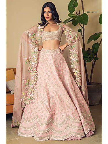Pink Designer Bridal Lehenga By AnuShree Ready