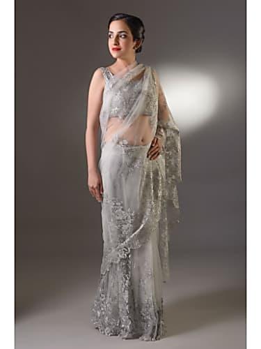 Rubina Dilaik Silver Saree look, Episode 298 style, Shakti