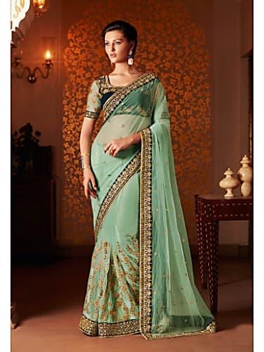 Rubina Dilaik Green Saree look Episode 312 style inspiration
