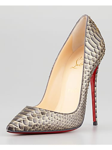 35f571040bbc christian louboutin so kate python pointed-toe red sole pump