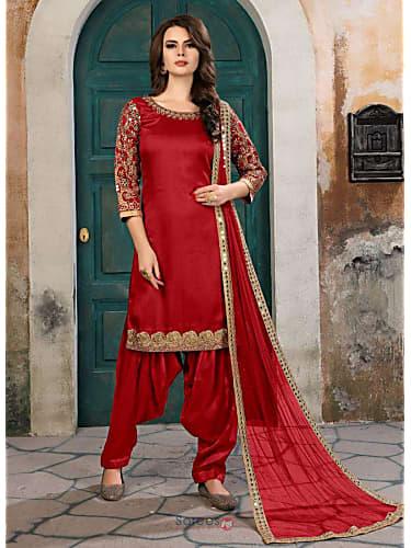 Isha Rikhi Red Patiala Suit look Lagi Hawa Dil Ko style