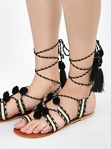 e208840ee00 Taapsee Pannu Black Sandals matching with look from Taapseexkoovs ...