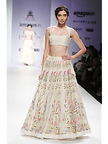 06212b1f9b mrunal thakur in kalki powder pink lucknowi thread anarkali. Get.  Kalkifashion Suggest a better product. Save; Share. Facebook; Twitter.  floral embroidery ...