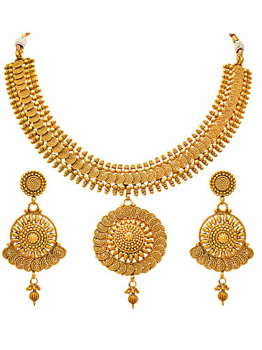 81e5fecb38c jewellery for less traditional ethnic one gram gold plated spiral designer  necklace set for women