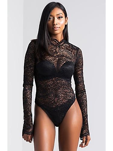 5707821667 Leigh-Anne Pinnock Black Bodysuit look
