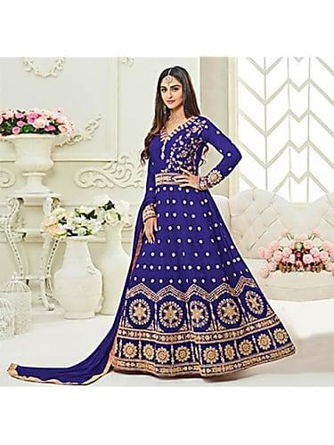 1c567e8f598 Kanika Mann Blue Anarkali look Episode 74 style inspiration