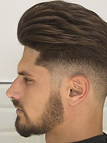trust your barber with the reference picture for this haircut, for the subtle fade on