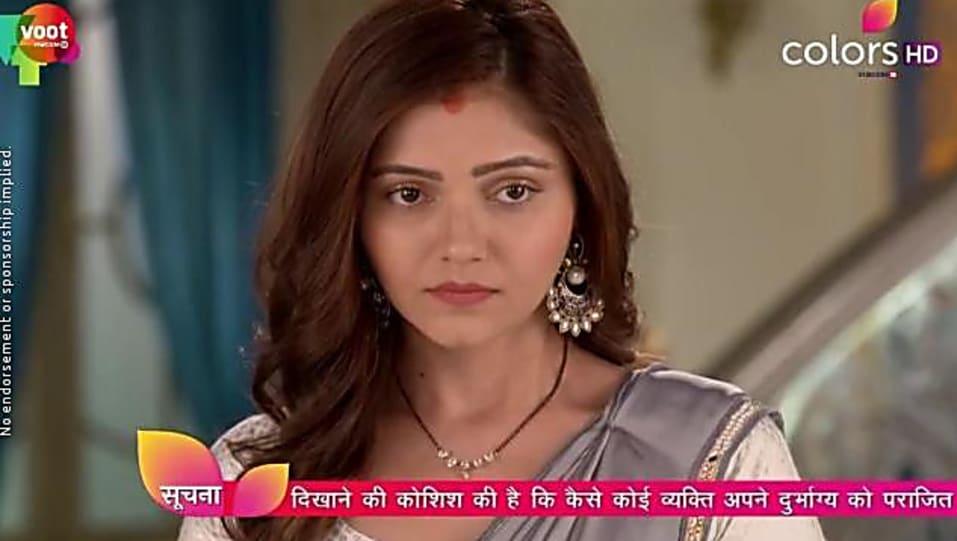 Rubina Dilaik Grey Saree look, Episode 220 style, Shakti - Ek