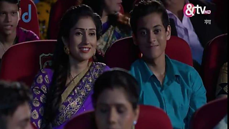 Gungun Uprari Purple Saree look, Episode 140 style, Gangaa