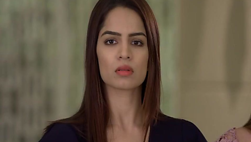 Shikha Singh Black Dress look Episode 1046 style inspiration