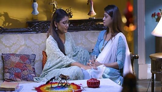 Sriti Jha Blue Kurta look, Episode 1446 style, Kumkum Bhagya